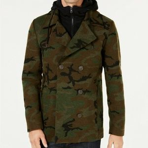 ⏰SALE American Rag Camo Pea Coat Double Breasted